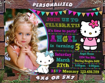 Hello kitty birthday invitations gangcraft hello kitty birthday invitation etsy birthday invitations filmwisefo