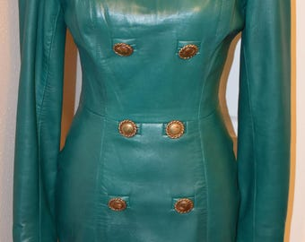 Double Breast Style North Beach Leather Dress