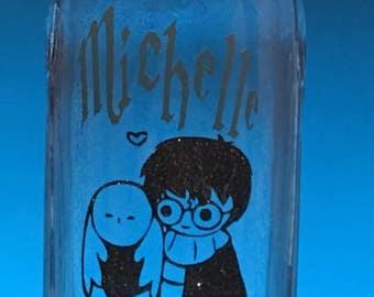 Custom Harry Potter Glass Bottle