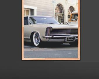 Muscle Car 1960s Vintage Print, Vintage Wall Poster, Car Wall Art, Vintage Car, Car Photography Wall Art, Vintage Wall Art, 1960s Wall Art