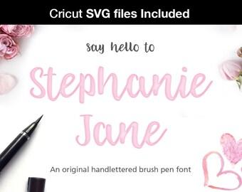 SVG font Script Font brush Font Calligraphy font cursive font Wedding fonts Can be used for a cricut design or monogram svg font