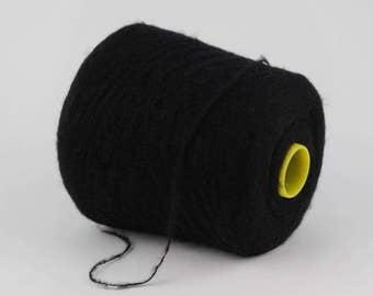 Cashmere/mohair  yarn on cone, hand knitting, machine knitting, per 100 g
