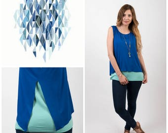 Blue Sea nursing top