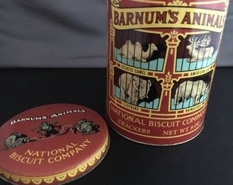 Barnum' Animal cookie tin