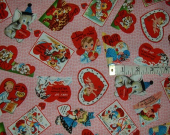 "Michael Miller Fabric By the Half Yard - ""My Valentine"""
