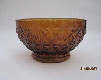CC Prex vintage amber glass bowl very rare