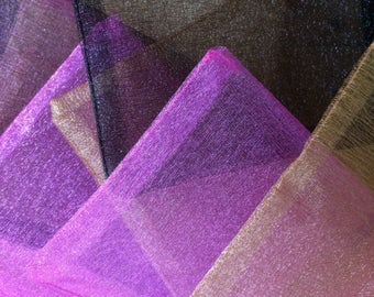 Organza washcloth soap bag