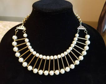 Gatsby Glamour Pearl Choker Necklace