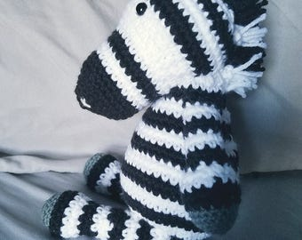 Crochet Zerbra Stuffed Animal
