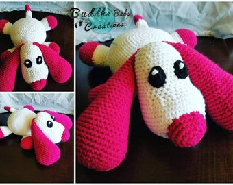 Crochet Pillow Pal Puppy any color option