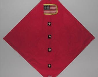 Baby Blanket 1940's Parade Flag One of a Kind Heirloom