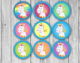 Unicorn Cupcake Toppers (Digital)