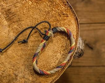 Herringbone weave bracelet/handmade rope bracelet