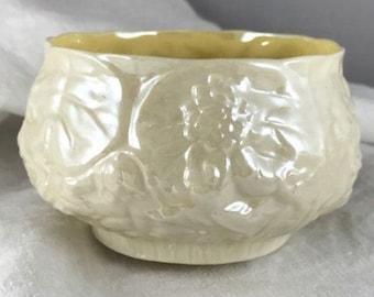 Belleek Sculptured Floral Bowl - #0857 Third Mark, 1926 - 1946