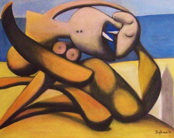 """Picasso - """"Figures on a Beach"""" - my version- ON SALE!"""