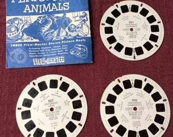 50s View-Master Reels Performing Animals Elephants Chimpanzees Lions