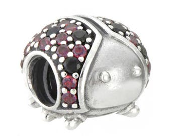 Genuine CHARM Bead LadyBug SILVER CHARMING for Pandora jewelry Sterling Silver S925