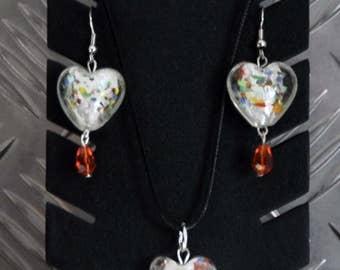 Ornament heart nuggets