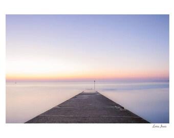 Sunset on a Beach Pier