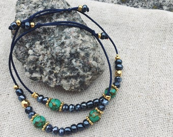 Dark blue golden Bracelet