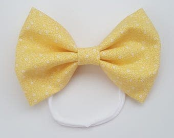 Yellow Floral Bow