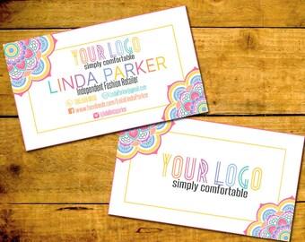 Handmade lularoe business cards etsy business card business cards floral business cards customized personalized digital file colourmoves Gallery