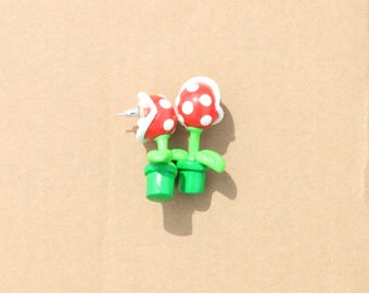 Mario inspired Carnivore Plants earrings