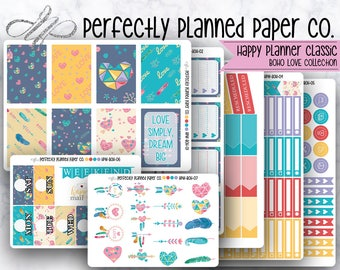 Boho Love Collection  // Full Weekly Kit // Happy Planner Classic