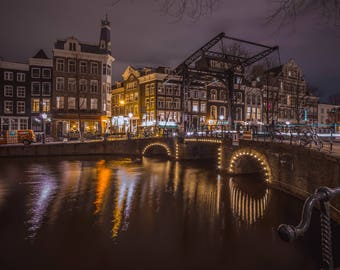 Amsterdam Print - Canal Reflections