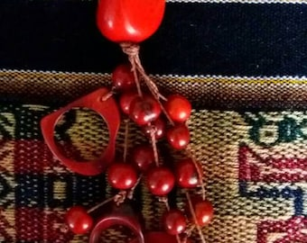 Ethnic key tagua and acai seeds