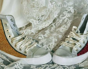 Made to order wedding converse shoes