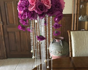 Purple Wedding Centerpiece