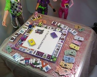 Dollhouse Original Monster High Monstropoly Miniature Boardgame for Monster High Dolls