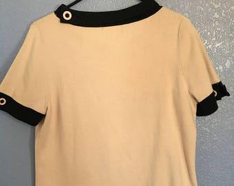 Light pink retro shirt// 60s shirt// vintage shirt