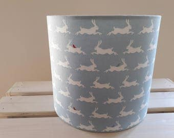 Hare Drum Lampshade in Blue