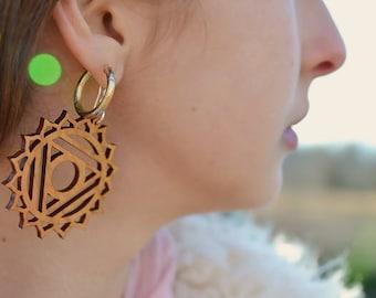 THROAT CHAKRA earrings w sterling silver hooks