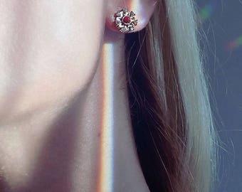 Flower Rose Gold Earring