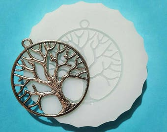 Flexible silicone mold super detailed tree polished (random color)