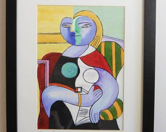 "Pablo Picasso's ""Reading""  1932 reproduction"