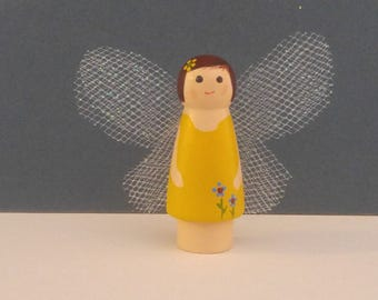 Wooden peg doll  fairies