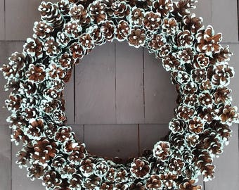 Pinecone Wreath Robins Egg Blue