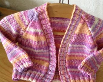 Sale  Price  Reduced  by 10% Baby Cardigan hand knitted