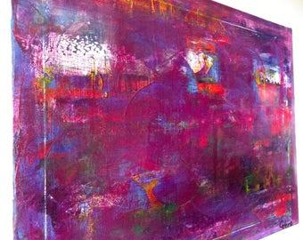 """Original medium abstract painting - """"Sleepless night"""""""