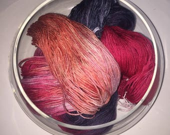 "Hand Dyed Yarn- Hand Dyed Sock Knitting Yarn 100 grams - ""Cervejaria"""