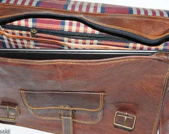 "Heathbold Lancastrian Satchel Style Leather Messenger Bag for 15.4"" Laptop. Hand Made."