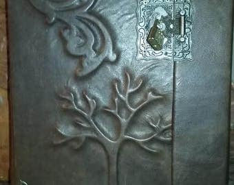 Huge leather journal Tree of life Leather journal antique style
