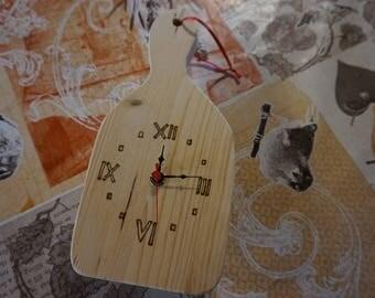 Orologi in legno (forma di stella alpina, cuore, tagliere)