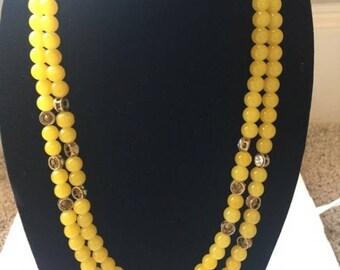 Beautiful yellow necklace