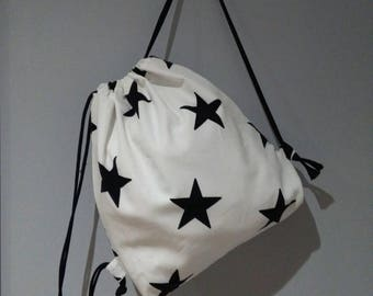 Backpacks for children of cotton with different prints, lined on the inside with white cotton, handmade