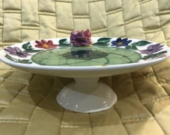 Pottery Handpainted Party Platter